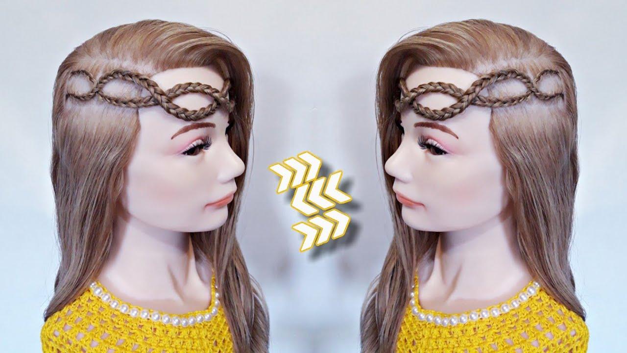 Trenzas frontales cruzadas | Peinados fáciles | La reina de las trenzas