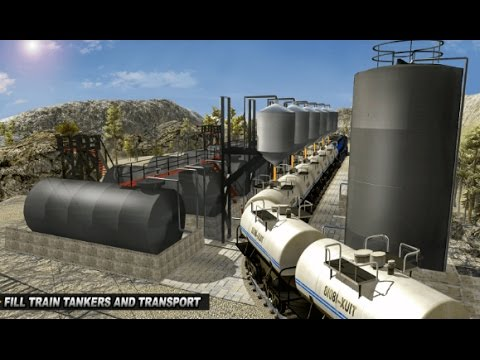 Oil Tanker TRAIN Transporter Android Gameplay HD