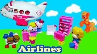 Hello Kitty Airlines Jet Playset Toy Review My Little Pony Airplane Plane  Opening Unboxing Part 1