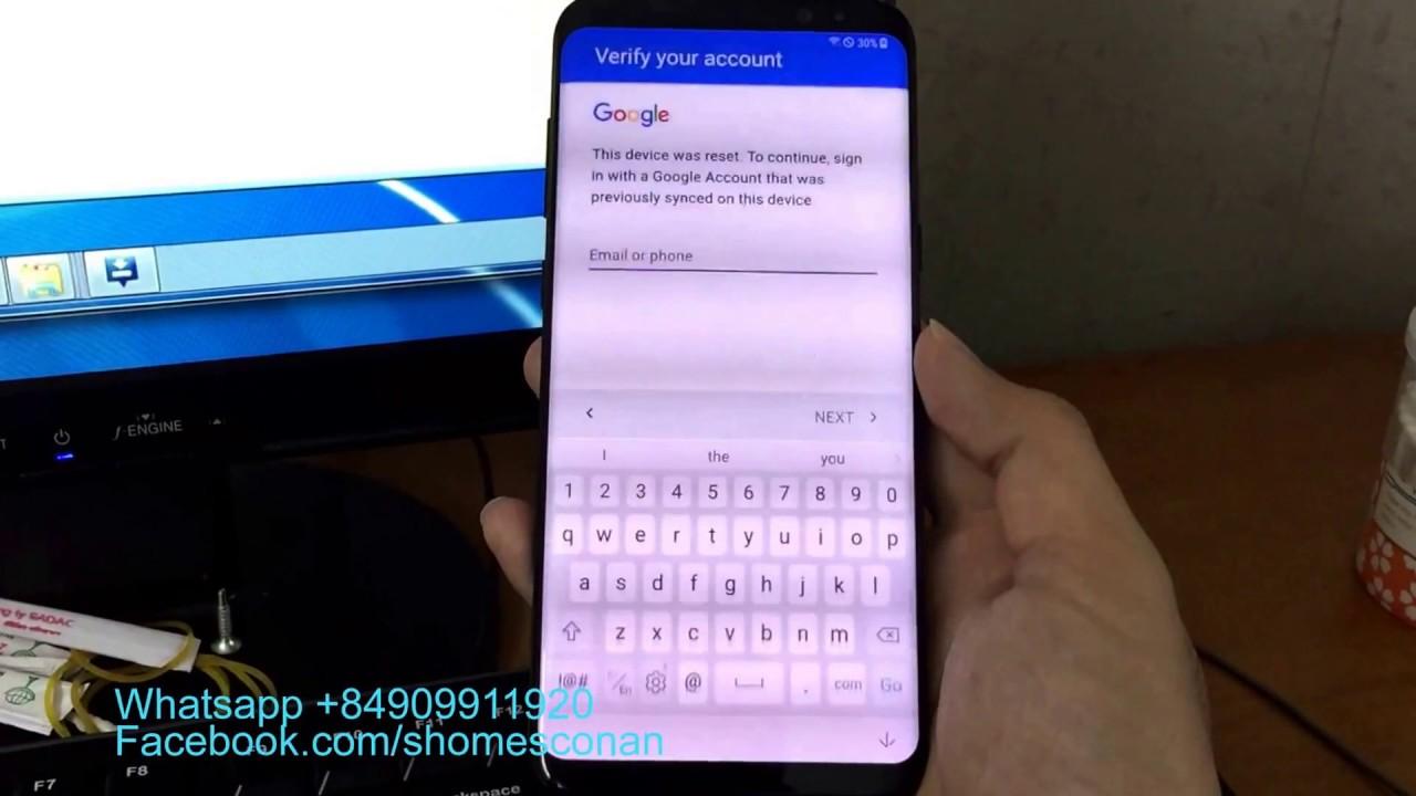 Remove google account FRP Samsung Galaxy S8 Plus Korean