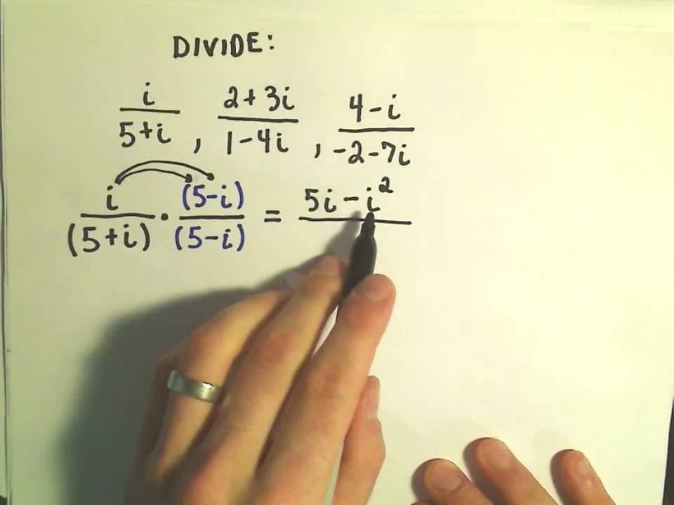 Complex Numbers Dividing Ex 1 Youtube