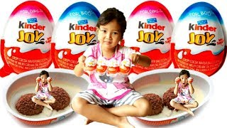 YUMMY.. Balita makan Kinder joy - Surprise Eggs and Toys for kids