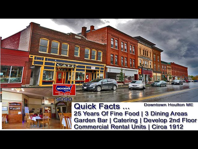 Maine Restaurant For Sale | Courtyard Cafe Houlton ME MOOERS REALTY9090