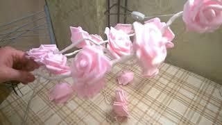 """Лампа  """"Розовый куст"""" своими руками.  Ч. 1"""