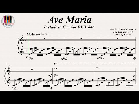 Ave Maria (Prelude in C major BWV 846) - Johann Sebastian Bach, Charles Gounod