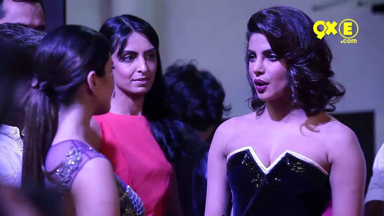 Sunny Leone And Priyanka Chopra Meet At An Awards Function -1346