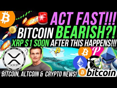 ALERT!🚨BITCOIN BEARISH?! XRP WILL BREAK $1 ON THIS NEWS! ETHEREUM 2.0 PUMPING THESE ALTCOINS!!