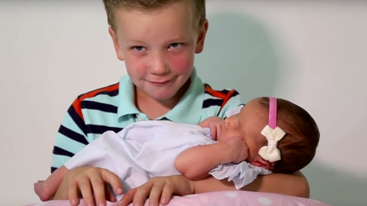 Six Brothers React To Meeting Their Baby Sister What S
