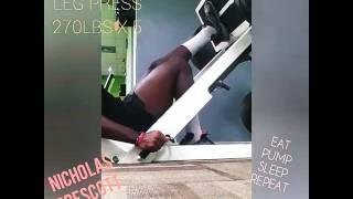 NICHOLAS PRESCOTT PRO ATHLETE - Single Leg Press