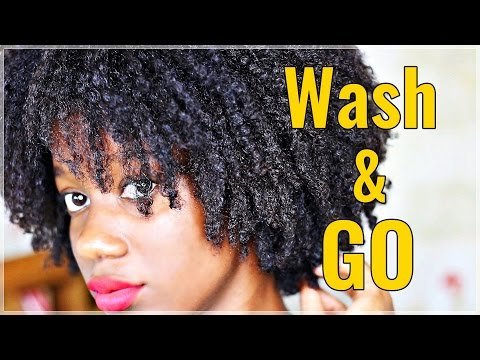 *BEST* WASH AND GO Technique | No Shrinkage, No Frizz | Natural Hair