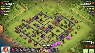 coc Clash of Clans Th9 GoWiVa saldırısı