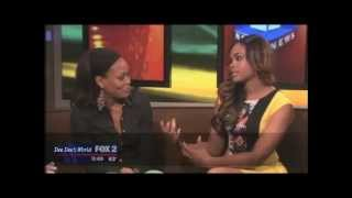 "Robin Givens & Demetria McKinney Talks About The Play Stage ""DERANDED"" on FOX2 News!"