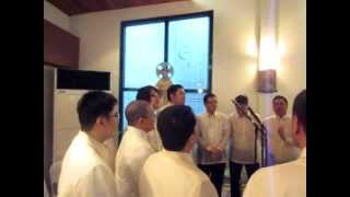 The K40 or the Kundirana Alumni sing at the Thanksgiving Mass for t...