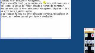 Onde baixar a instalação do Acer eRecovery Management