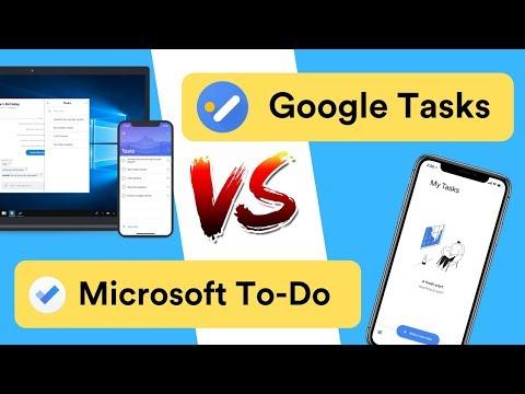 Google Tasks Vs Microsoft To Do
