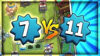 LEVEL 7 IN ARENA 10!! INSANE WIN vs LV 11!! NEW PERSONAL BEST!! Clash Royale Hog Mountain