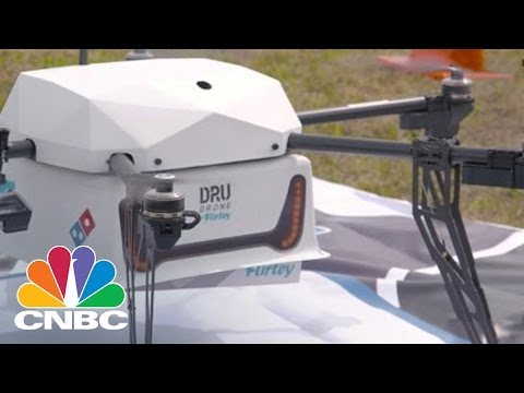 Domino's First Company To Deliver Pizza By Drone | CNBC