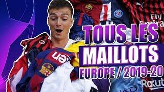 LES MAILLOTS DES GROS CLUBS EUROPÉENS POUR LA SAISON 2019/2020 (Barça, Real Madrid, Man United...)