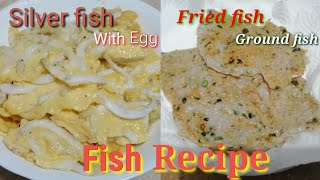 SILVER FISH  FRIED FISH  FISH WITH EGG  QUICK AND EASY RECIPE  HOMEMADE
