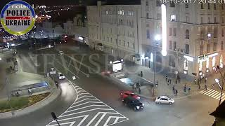 The moment of a terrible accident in Kharkov. ДТП Харьков ул. Сумская  18.10.2017