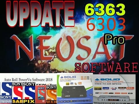 NEOSAT software update Solid 6303 PRO AND 6363 setup box