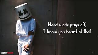 Marshmello x Juicy J - You Can Cry ft. James Arthur ( Lyrics Video )
