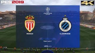 PES 2019 (PC) Monaco vs Club Brugge | UEFA CHAMPIONS LEAGUE PREDICTION | 6/11/2018 | 4K 60 FPS