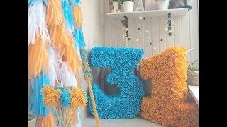 Объемная цифра из картона и гофробумаги! DIY Paper number(После мастер-класса я покажу какой еще декор можно сделать на детский день рождения кроме объемной циферки..., 2015-08-13T19:37:41.000Z)
