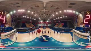 Shooting Hoops 360: Khimki basketball team shows off skills thumbnail
