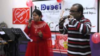 Prem & Rini performing Paadaam Namukku Paadaam.............