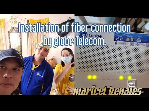 INSTALLATION OF FIBER CONNECTION GLOBE TELECOM.