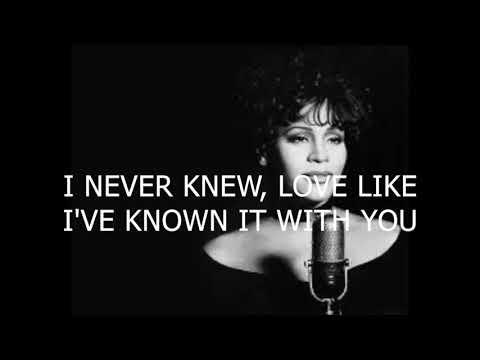 I have nothing - Whitney Houston - Karaoke female version lower (-1)