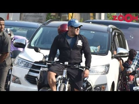 1fe1acb6c Salman Khan goes cycling on the streets of Mumbai   Bollywood News ...