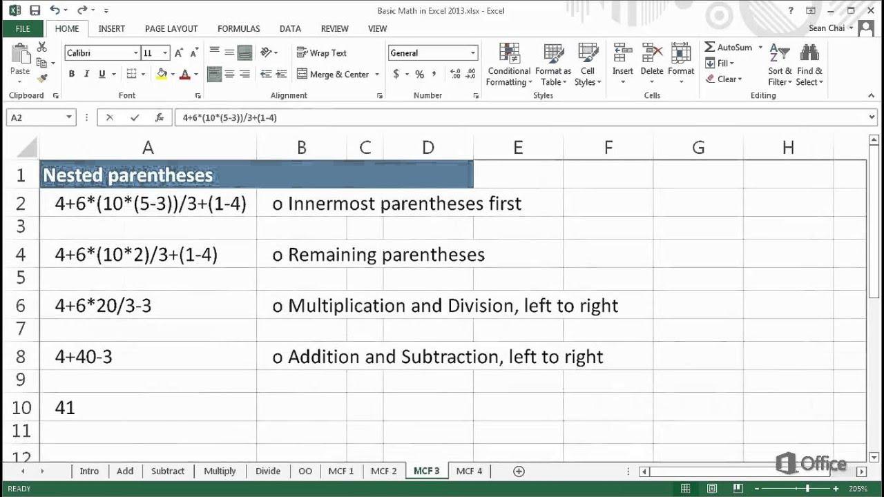 Excel 2013'te Temel Matematik - Diğer Formüller
