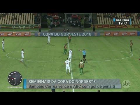 Sampaio Corrêa vence o ABC e dá passo importante em torneio | SBT Brasil (20/06/18)
