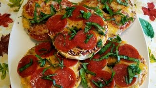 How to make PIZZA BAGELS - 99 CENTS ONLY store meal deal recipe !