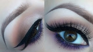 Natural Glam with a pop of purple l makeup tutorial Thumbnail