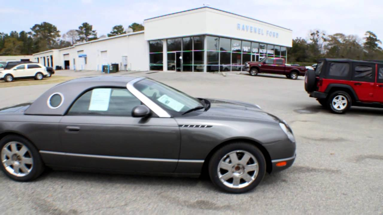 2003 ford thunderbird convertible review charleston car videos for sale ravenel ford youtube [ 1280 x 720 Pixel ]