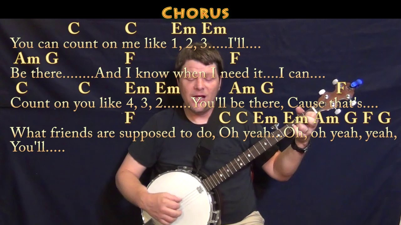 Count On Me Bruno Mars Banjo Cover Lesson In C With Chordslyrics