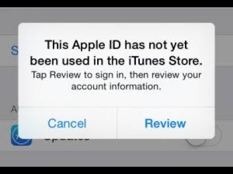 Fix This Apple ID Has Not Yet Been Used In The ITunes Store ✔️2019✔️