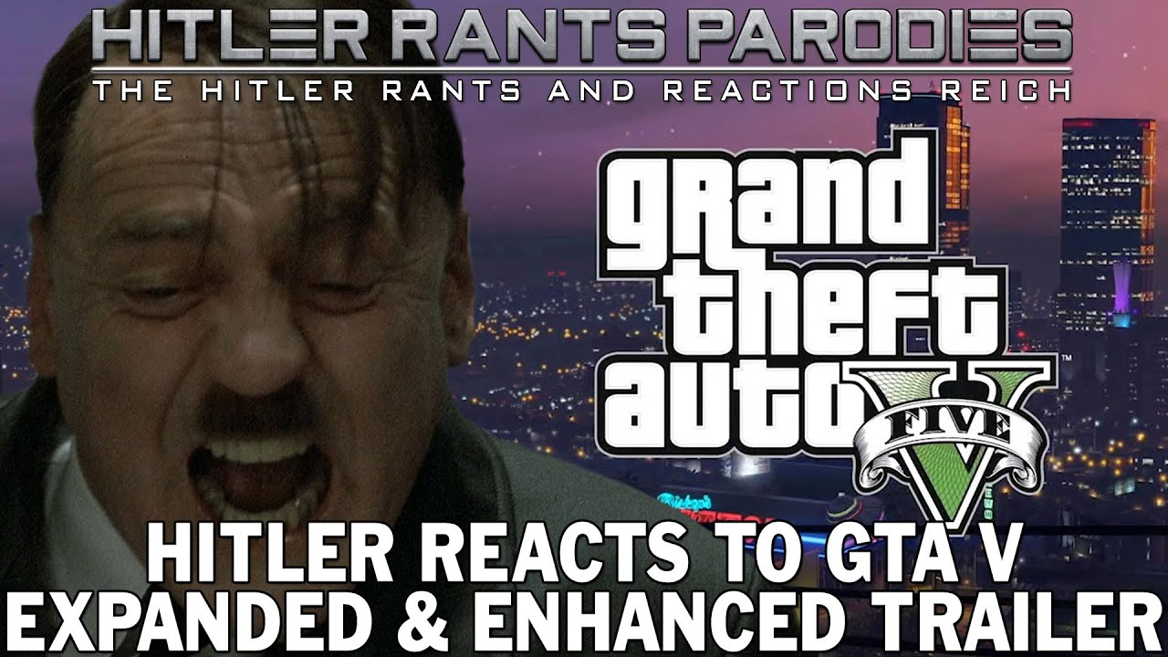 Hitler reacts to GTA V: Expanded & Enhanced Trailer (PS5)