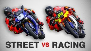 MOTO STRADALE  VS  MOTO RACING - LE DIFFERENZE