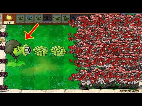 99999 Football Zombie vs 1 Gatling Pea  Plants vs Zombies
