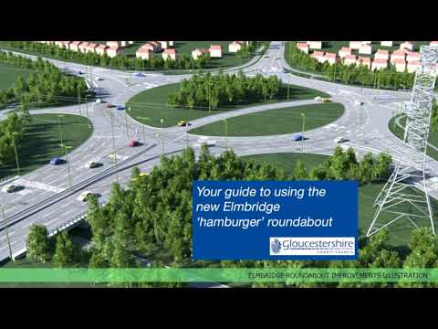 Your guide to using the new Elmbridge 'hamburger' roundabout