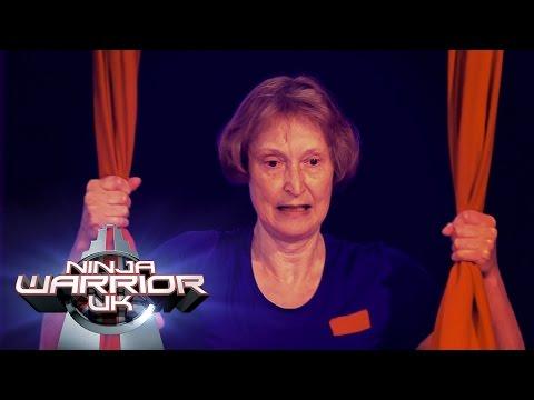 64 Years Old Elizabeth Hammersley's takes on the course | Ninja Warrior UK