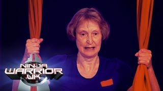 64 Years Old Elizabeth Hammersley's takes on the course | Ninja Warrior UK