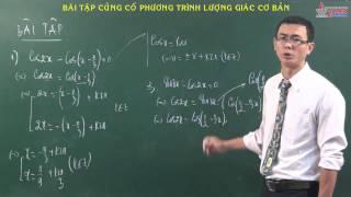 Toán 11 - Hàm số lượng giác - BT Phương trình lượng giác cơ bản