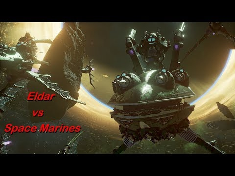 Eldar vs Space Marines! Rank 73, Heroic Difficulty, 1500 Points - Battlefleet Gothic Armada