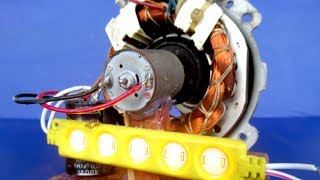 New DIY easy at home - How to make a Power Free energy generator Using Dynamo
