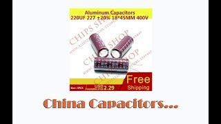 Чи варто замовляти конденсатори в Китаї!? 400V 220µF розпакування та огляд